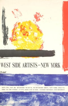 "Theodoros Stamos-West Side Artists-New York-36.5"" x 24""-Serigraph-Expressionism"