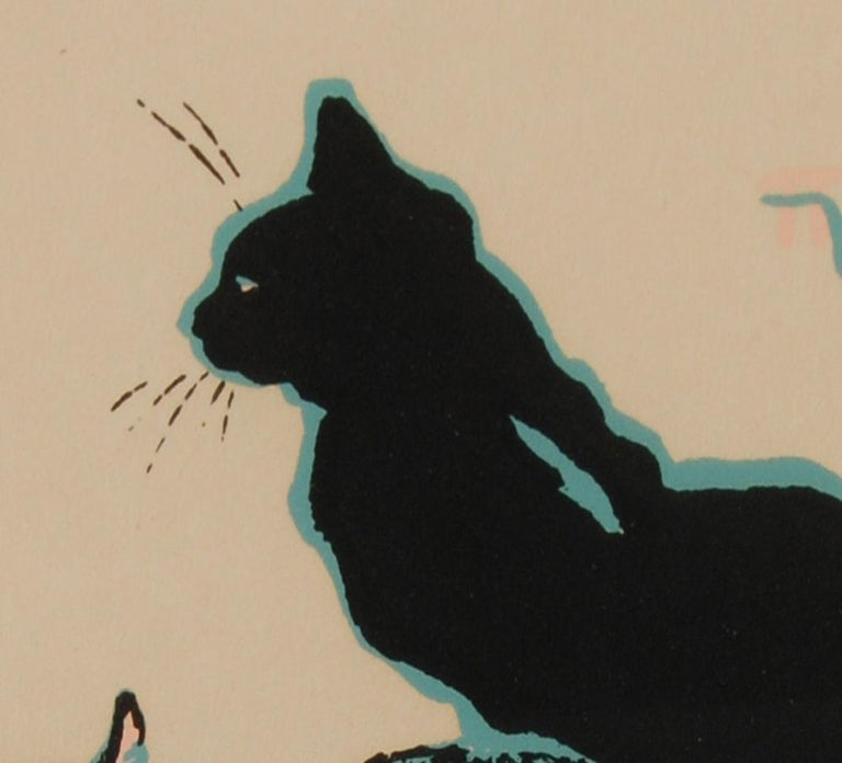 European Theophile Alexandre Steinlen Cats Seriagraph For Sale