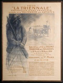 """""""La Triennale: Exposition d'Art Francais,"""" Lithograph, 1916"""