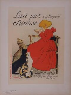 Milk : Girl with Cats - Lithograph (Les Maîtres de l'Affiche), 1897