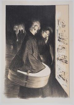 Shopping in Paris - Lithograph (Les Maîtres de l'Affiche), 1897