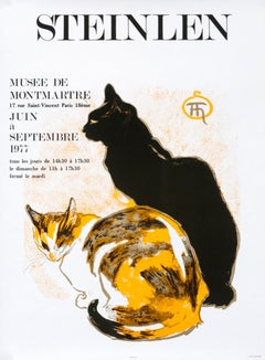 """""""Steinlen - Musee de Montmartre Paris"""" Art Nouveau Cat Original Poster"""