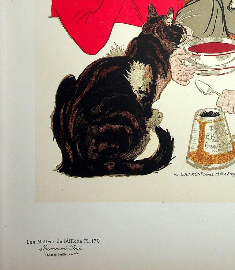 The Little Girl and her Cat - Lithograph (Les Maîtres de l'Affiche), 1899 - Art Nouveau Print by Théophile Alexandre Steinlen