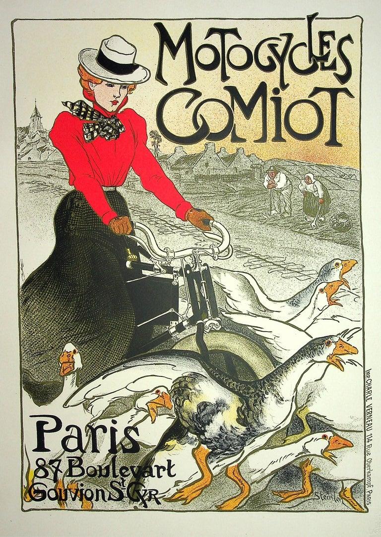 The Pretty Parisian and the Geese - Lithograph (Les Maîtres de l'Affiche), 1899 - Print by Théophile Alexandre Steinlen