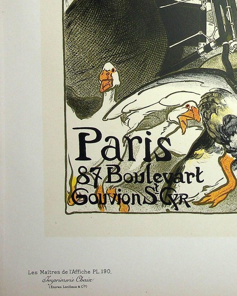 The Pretty Parisian and the Geese - Lithograph (Les Maîtres de l'Affiche), 1899 - Art Nouveau Print by Théophile Alexandre Steinlen
