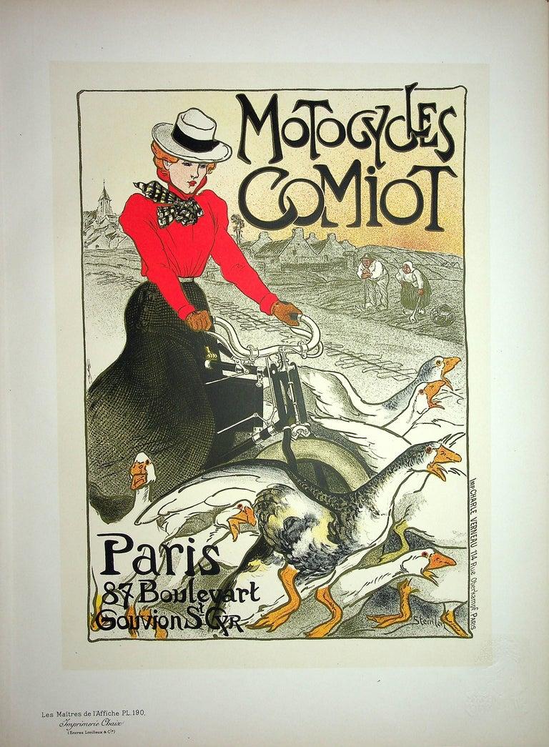 Théophile Alexandre Steinlen Figurative Print - The Pretty Parisian and the Geese - Lithograph (Les Maîtres de l'Affiche), 1899