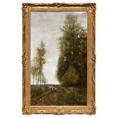 Theophile De Bock Landscape with Sheep Painting