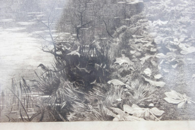 Landscape Engraving Published by Arthur Tooth & Sons - Barbizon School Print by Theophile Narcisse Chauvel