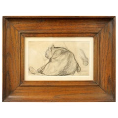 Théophile Steinlen, Persian Cat Pencil Drawing