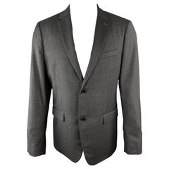 THEORY 40 Regular Charcoal Nailhead Wool Single Breasted Sport Coat