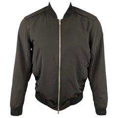 THEORY Brant Williston Size M Black Polyester / Nylon Bomber Jacket