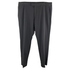 THEORY Size 38 Black Solid Polyester Blend Zip Fly Dress Pants
