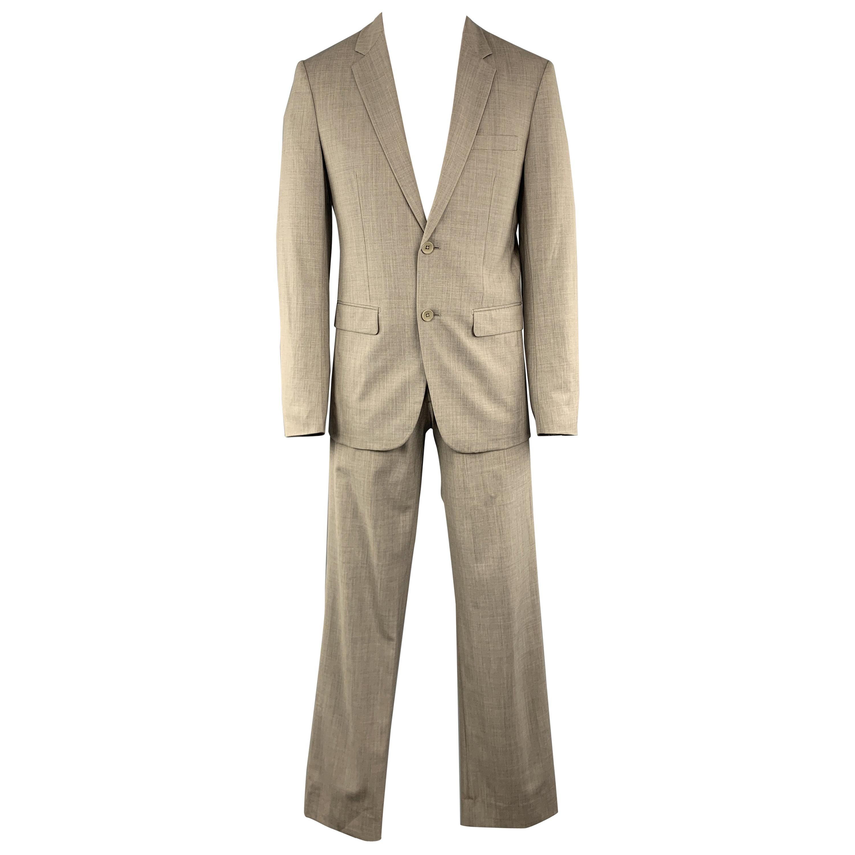 THEORY Size 38 Grey Solid Wool Notch Lapel 30 x 33 Suit