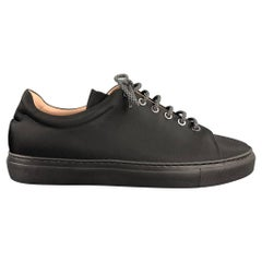 THEORY Size 8 Black Nylon Trainer Sneakers