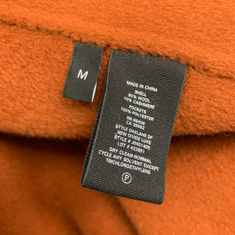 Women's THEORY Size M Rust Wool / Cashmere Shawl Collar Belted Coat