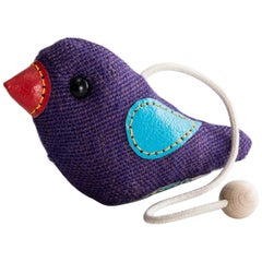Therapeutic Bird Toy in Purple Jute with Leather by Renate Müller, 1981-1982
