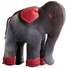 Therapeutic Elephant Toy in Jute and Leather by Renate Müller, 1981-1982
