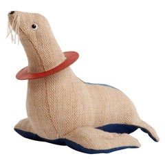 Therapeutic Toy Seal in Jute with Leather by Renate Müller, 1965-1971