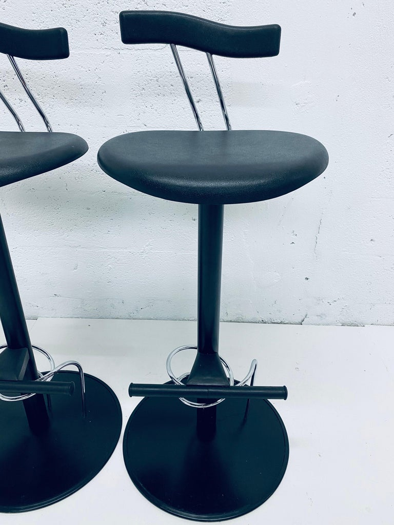 There Postmodern Memphis Style Bar Stools, Italy, 1980s For Sale 3