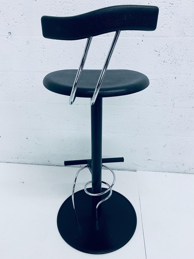 There Postmodern Memphis Style Bar Stools, Italy, 1980s For Sale 5