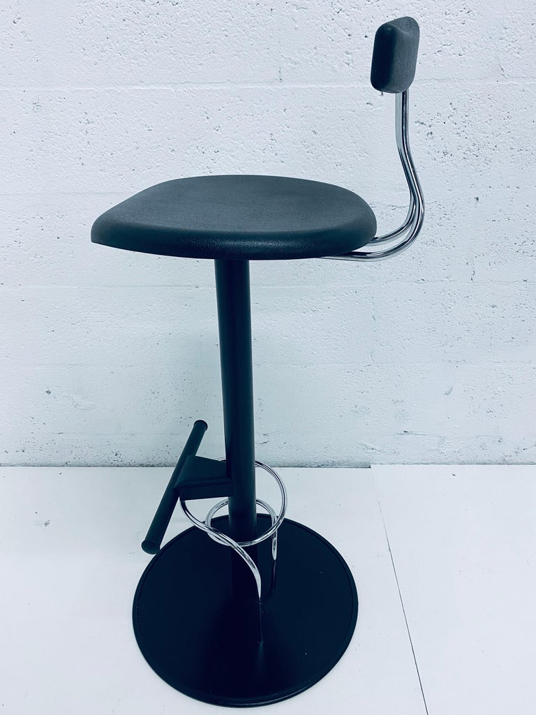 There Postmodern Memphis Style Bar Stools, Italy, 1980s For Sale 6
