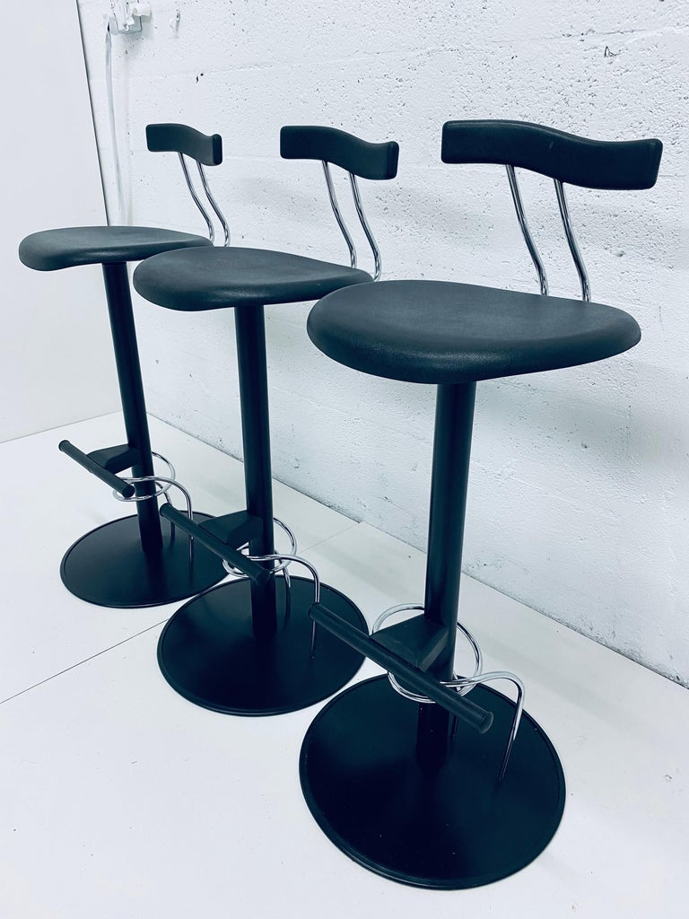 Post-Modern There Postmodern Memphis Style Bar Stools, Italy, 1980s For Sale