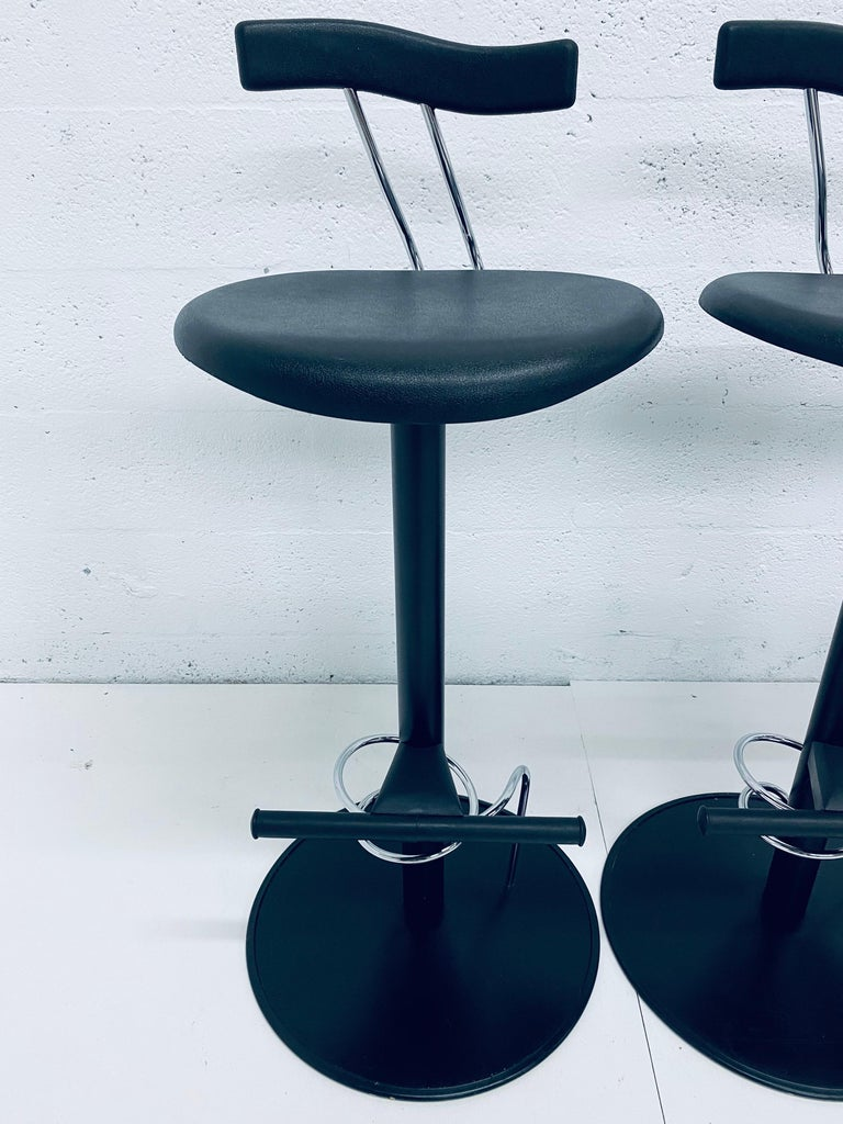 There Postmodern Memphis Style Bar Stools, Italy, 1980s For Sale 1