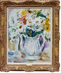 Flowers In A White Pitcher Still Life