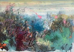 Over the Sand Dune, Mixed Media on Canvas