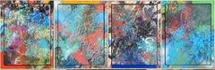 4 seasons, Painting, Acrylic on Wood Panel
