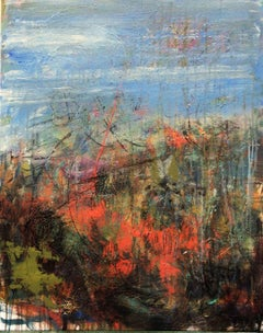 Arid Landscape, Painting, Acrylic on Canvas