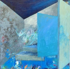 Rooms-Out and In, Painting, Acrylic on Canvas