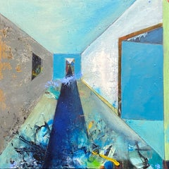 Rooms-The long and narrow path, Painting, Acrylic on Canvas