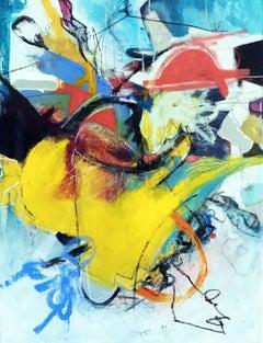 Yellow Volume, Painting, Acrylic on Canvas