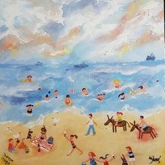 Donkey Days . Contemporary Naive School Painting