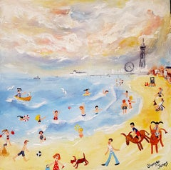 Donkey Days On The Sand. Contemporary Naive School Painting