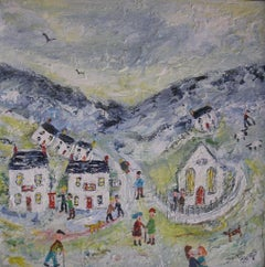 The Peaceful Valley. Naive School painting