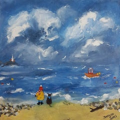 Watching The Waves. Contemporary Figurative Painting