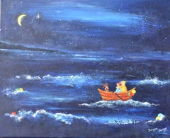 """""""Wishing On A Star."""" Naive School Painting"""