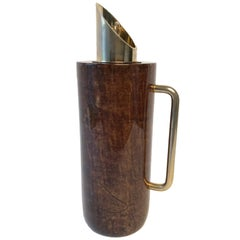 Thermos Caraffe Pitcher in Goatskin by Aldo Tura, Mid-Century Modern