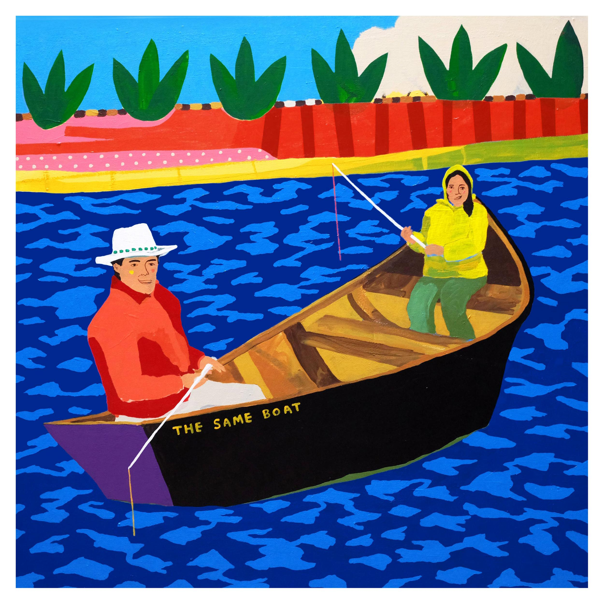 'They Were In the Same Boat' Portrait Painting by Alan Fears Pop Art