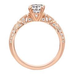 THIALH 0.71 Carat F Color VVS1 Clarity Cushion-Cut Diamond Engagement Ring