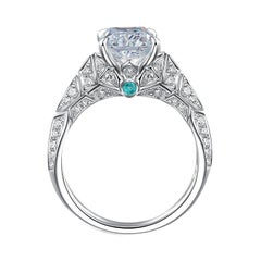 THIALH 1.5 Carat H Color VS1 Clarity Cushion-Cut Diamond Engagement Ring