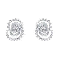 Thialh 18 Karat White Gold Diamond Earrings