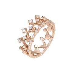 THIALH Diamond in 18 Karat Rose Gold Ring