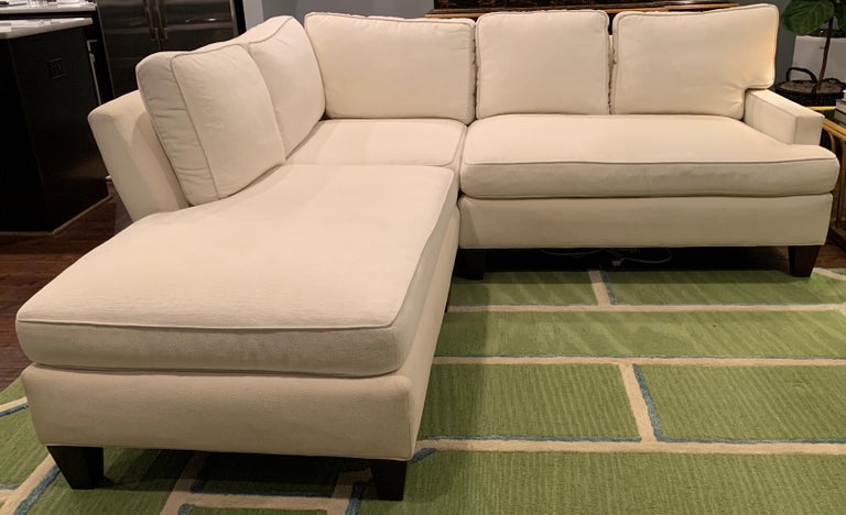 Custom Sectional Sofa In Crypton Fabric