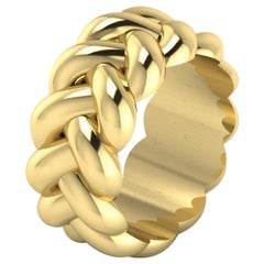 Thick Braid Ring by Romae Jewelry in 22 Karat Yellow Gold