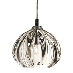 Clear Barnacle Urchin Pendant, Hand Blown Thick Glass - Made to Order