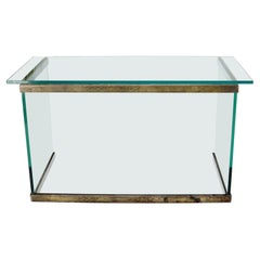 Thick Glass Top Glass Base Writing Table Compact Desk