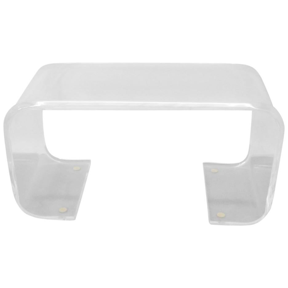 Thick Lucite Cocktail Table or Bench
